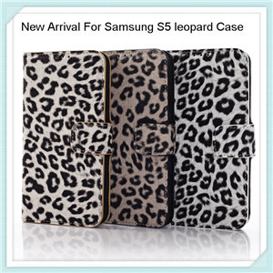 New Arrival For Samsung S5 Leopard Leather Case