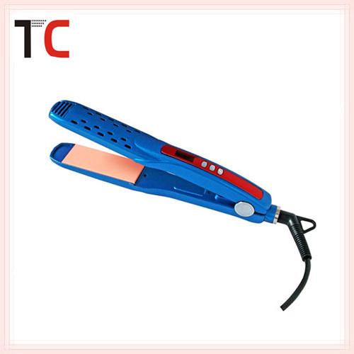 New Blue Hair Straightener Flat Iron