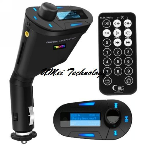 New Car Mp3 Player Wireless Fm Transmitter With Usb Sd Mmc Slot