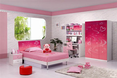 New Design Best Seller Mdf High Glossy Finish Children Bedroom Sets