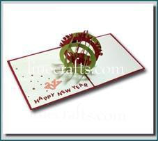 New Year Globe Pop Up Greeting Card Code Cn027
