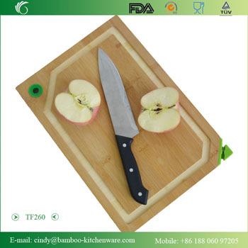 Newest Style Vegetable Cutting Board With Groove Silicone Feet And Sharpner