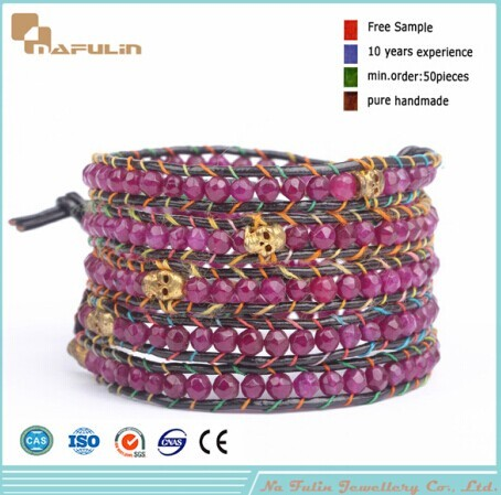 Nflbr324 Five Wrap Beaded Bracelet