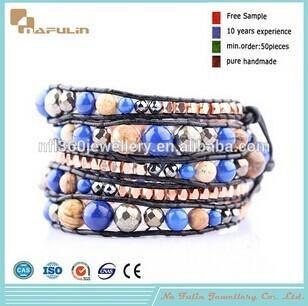 Nflbr685 Wholesale Gemstone Beaded Bracelet