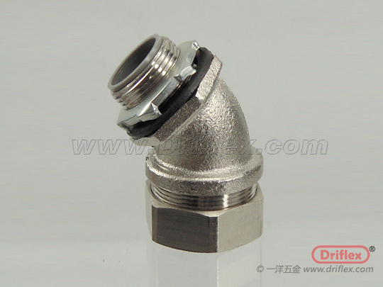 Nickel Plated Brass 45d Connector