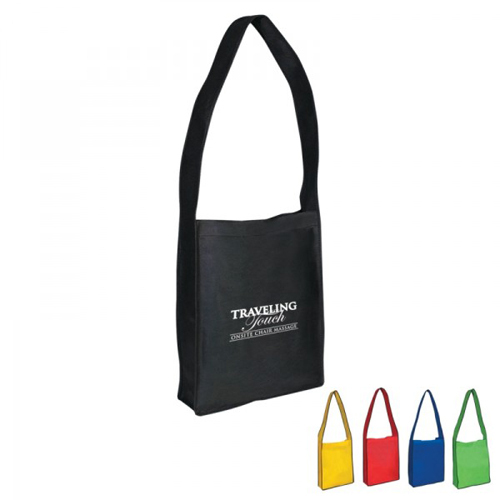 Non Woven Messenger Tote For Conference With Velcro Closure