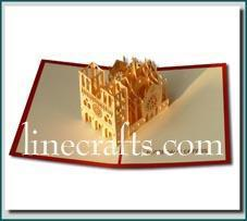 Notre Dame Pop Up Greeting Card Code Bd008