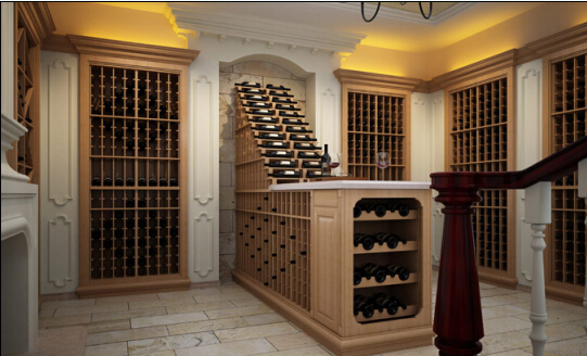 Oak Solid Wood Wine Cellar