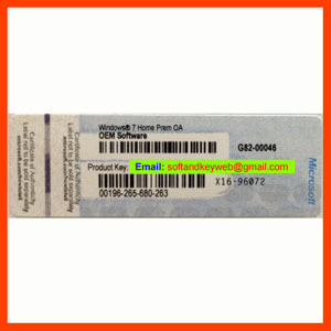 Oem Coa Label Sticker Key License For Win7 Home Prem