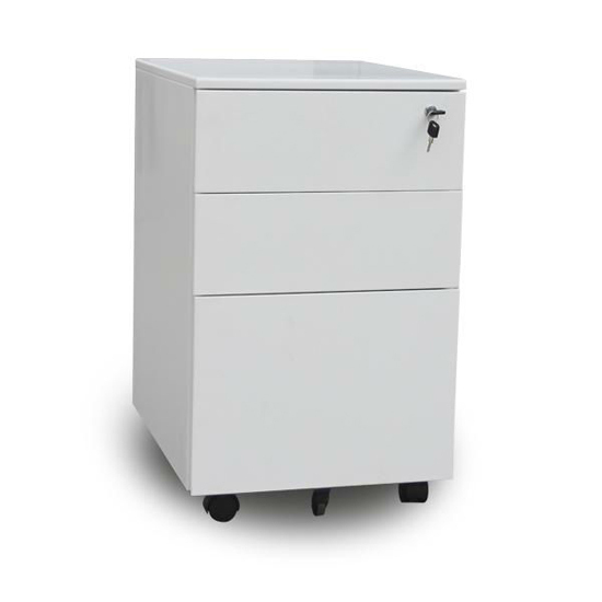 Office Metal File Cabinet Steel Mobile Pedestal On Wheels