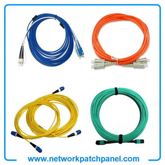 Optical Fiber Network Cables Orange Yellow Blue Green Multimode Optic