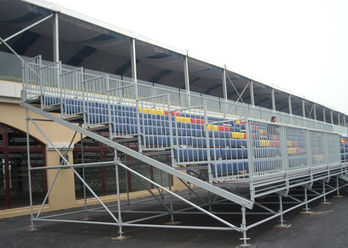 Outdoor Sports Metal Structure Bleacher Tribune Grandstand For Ball Games