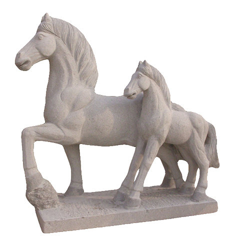 Outdoor Stone Horse Statue