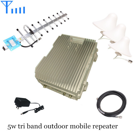 Outdoor Tri Band 900 1800 2100mhz Gsm Dcs Wcdma Mobile Signal Repeater
