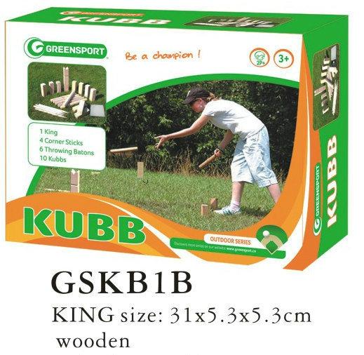 Outdoor Wooden Kubb Game Set Gskb1b