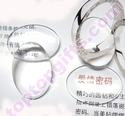 Oval Clear Cabochon Flat Glass Stone Phone Shells Decorative
