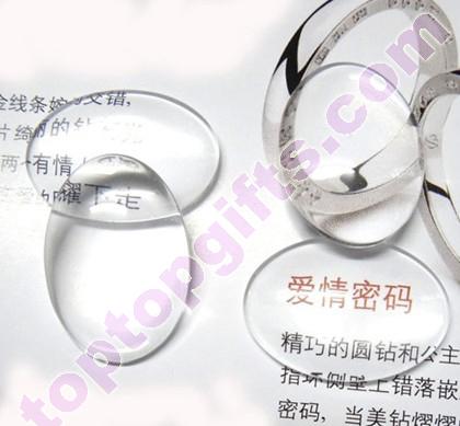 Oval Clear Cabochon Flat Glass Stone Phone Shells Decorative
