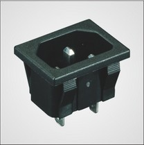Pa66 Pbt Housing Ac Power Socket