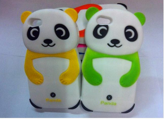 Panda For Iphone 5 Silicone Case Scpanda