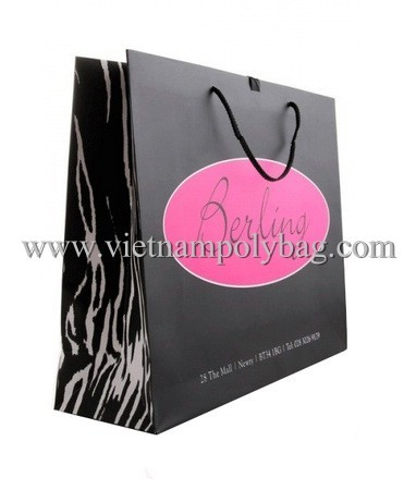 Paper Shopper Bag With Lamination Made In Vietnam