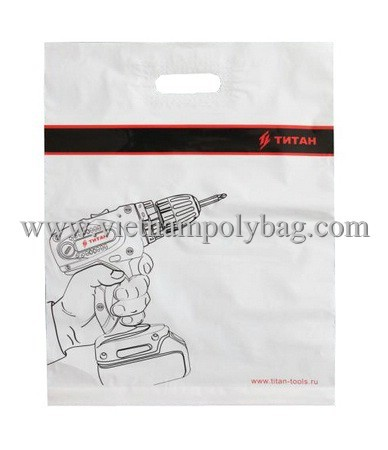 Patch Handle Plastic Shopping Bag