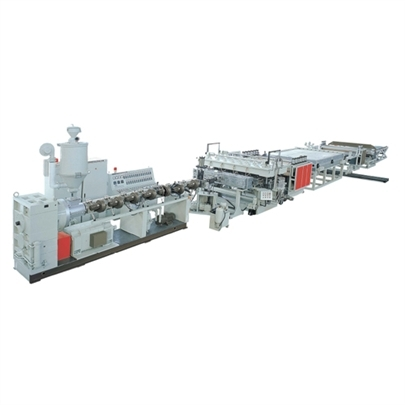 Pc Pp Pe Plastic Hollow Cross Section Plate Extrusion Line