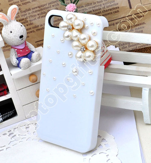 Pearl Flower Iphone4 Shell Case Cover Decoration