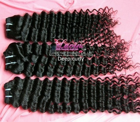 Peruvian Virgin Hair Deep Wave Lovely Curl Free Shedding And Tangle