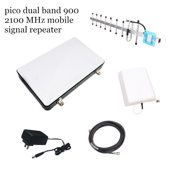 Pico Dual Band 900 2100mhz Signal Repeater For Home Use