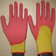 Pink Latex Coated Working Gloves Lg1507 7