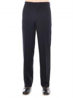Pinstripe Straight Fit Wool Pants