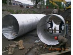 Plastic Coated Corrugated Steel Culvert Pipe Plates For Construction