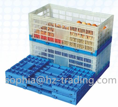 Plastic Folding Crate For Eggs Or Egg Basket