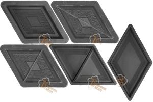 Plastic Moulds For Producing Interlocking Concrete Pavers Patterns Pavement