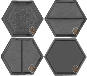 Plastic Moulds For Producing Interlocking Concrete Paving Tiles