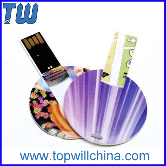 Plastic Round Full Color Printing Cheap Usb Storage Best Delivery