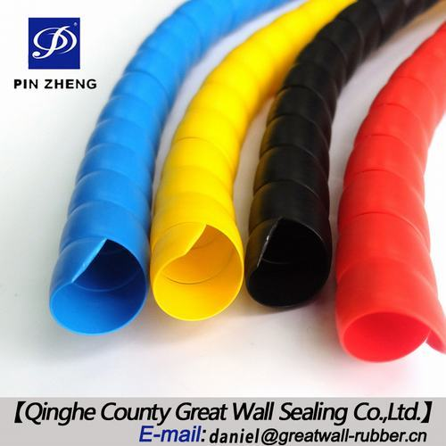 Plastic Spiral Hose Wrap For Protecting Hydraulic Hoses From Hitting