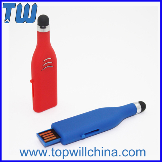 Plastic Stylus Pen Usb Flash Disk For Mobile Cell Phone And Tablet