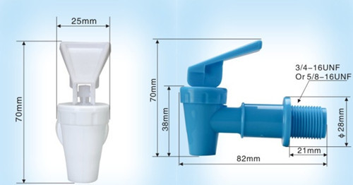 Plastic Water Spigot And Faucet Dispenser Drink Taps