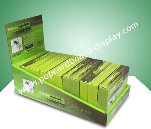 Point Of Purchase Cardboard Countertop Displays For Anti Mosquito Patch