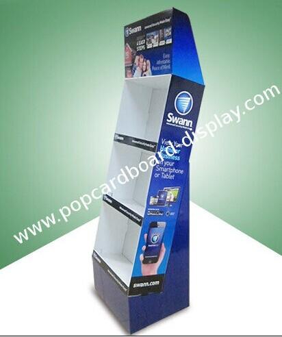 Pop Cardboard Display Floor With Three Shelf