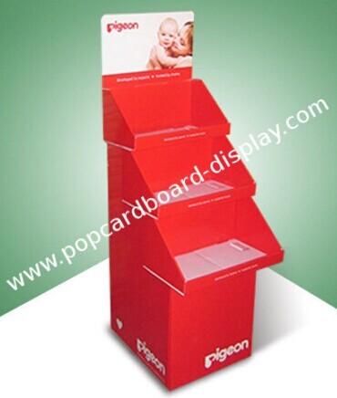 Pop Floor Display Cardboard Point Of Purchase Supermarket Shelves