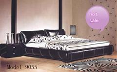 Popular Modern Bedroom Furniture Wooden Frame Faux Leather Bed Storage