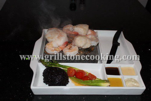 Porcelain Cookingstone Set Hot Rock Dinning Experience