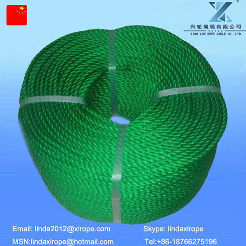 Pp Monofilament 3strand Twisted Rope