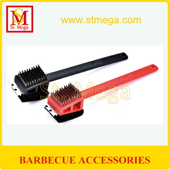 Practical 3 In 1 Plastic Bbq Grill Cleaning Brush