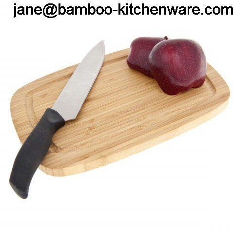 Premium Bamboo Cutting Board Elegantly Designed Strong Durable No Knife Dul
