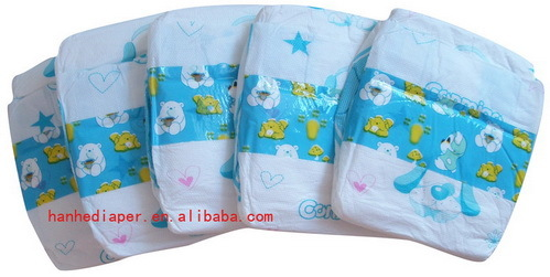 Printed Baby Diapers With Good Absorb