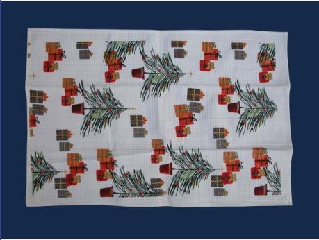 Printed Cotton Tea Towel Dish Cloth