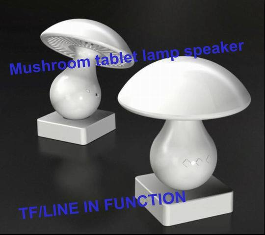 Professional Bluetooth Speaker With Lamp Mushroom Design